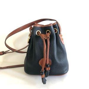 Dooney & Bourke Vintage Leather Mini Bucket Bag